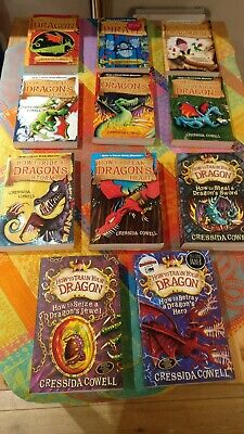 Cressida Cowell - How to Train Your Dragon - Set of 11 paperback books