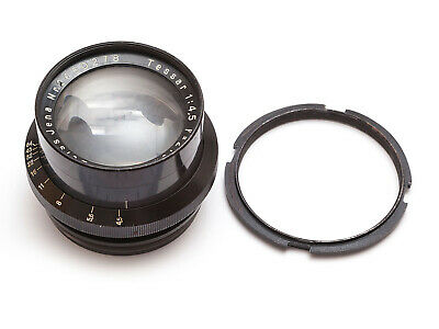 Vintage lens, Zeiss Tessar, Jena, 21cms f4.5, with lens ring. Good condition!