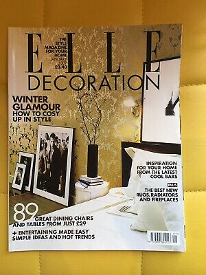 Elle Decoration Magazine January 2007 Issue No 173 Winter glamour dining