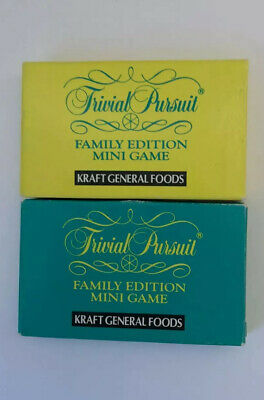 Kraft General Foods Trivial Pursuit Family Edition Mini Game Versions 1 & 2