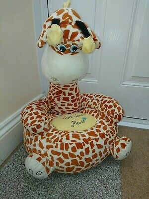 Kids Toddlers Armchair Seat Nursery Baby Sofa Giraffe Children Soft Plush Chair