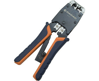 CABAC Precision RJ Crimper 6/8 Way for RJ12 and RJ45 with cutter/stripper RJ1245