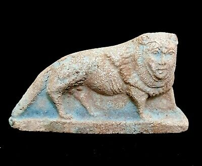 Sekhmet Statuette Egyptian Faience Rare Antiques Goddess Of War Lioness Figurine