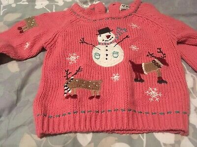 Next Girls Christmas Jumper Size 18 months- 2 Years