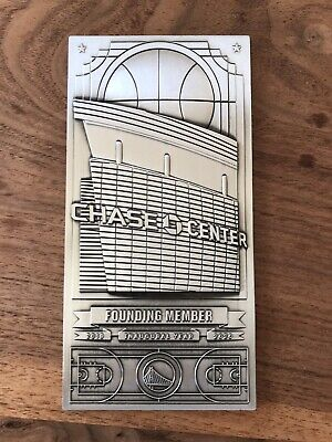 2019 Golden State Warriors Chase Center Commemorative Ticket Plaque