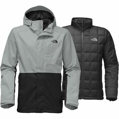 The North Face Men's ALTIER DOWN TRICLIMATE 3-in-1 Insulated Jacket Grey Black M