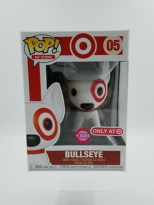 🎯 Funko POP! Ad Icons Target Flocked Bullseye with Red Collar #05  (0882) 🎯