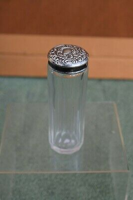 Silver Topped Dressing Table Bottle Chester Hallmark 1908 J & R Griffin.