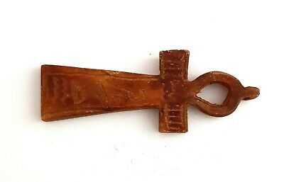 Ankh Key Of Life Amulet Ancient Egyptian Antique Talisman Pharaoh Rrae Faience