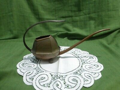 RARE Fabulous Shape & Designer Watering Can Copper & Brass  Vintage