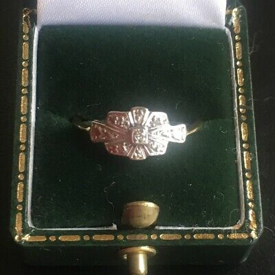 Antique Art Deco 18ct gold and platinum diamond ring