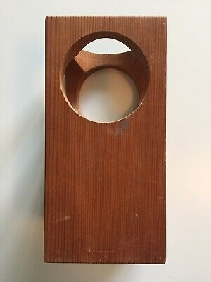 Mid Century Scandinavian modern wooden candle holder