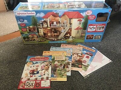 Sylvanian Families Beechwood Hall Gift Set, Furniture,Figures,box,working lights