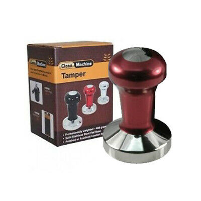 Coffee Tamper, 58mm Stainless Flat, Red ProTamp