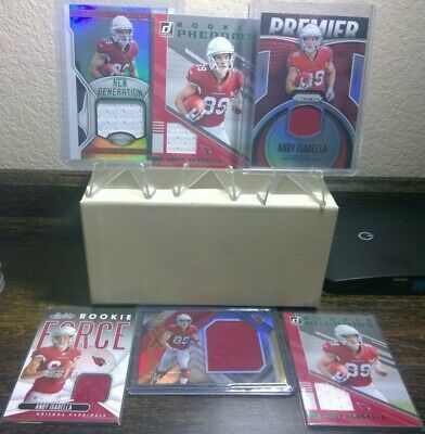 2019 Andy Isabella RC Patch Jersey 6 card Lot Prizm Certified XR Cardinals