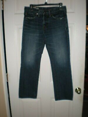 ABERCROMBIE & FITCH REMSEN Jeans LOW RISE Slim Straight BUTTON FLY 28 X 30 Dark