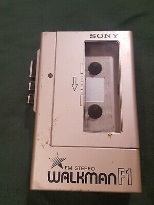 Vintage SONY Walkman WM-F1 FM Stereo Cassette Player Clip /works