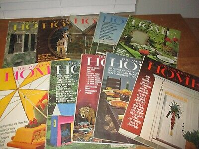 Vintage  Lot of 10  - 1964  -  Complete Year - The American Home Magazine