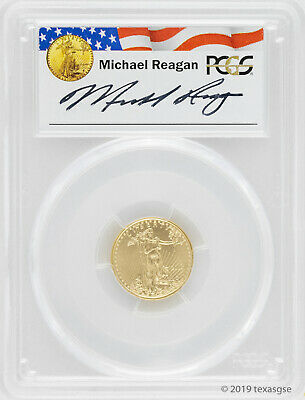 2016 $5 Gold American Eagle PCGS MS70 - Reagan Legacy Series