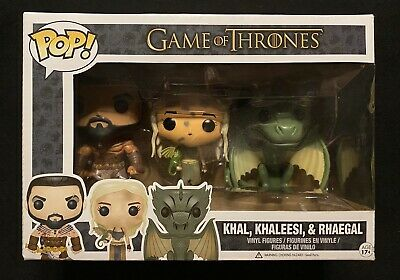 Funko Pop Game of Thrones Khal Khaleesi Rhaegal Vaulted 3 pack