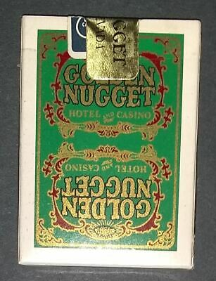 Retired GOLDEN NUGGET HOTEL and CASINO SEALED Playing Cards - Green TYPE 5 ..
