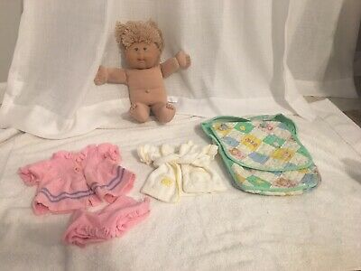 Cabbage Patch Kid Doll Vintage Coleco Clothes Robe Diaper Bag