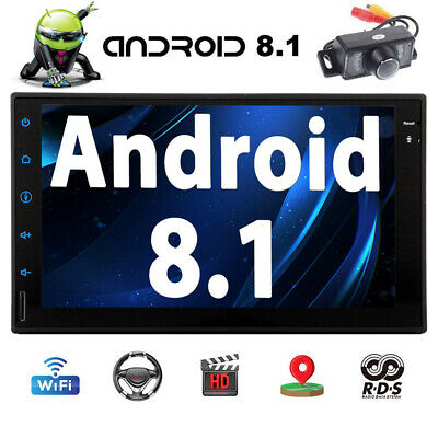 """7"""" Smart Android 8.1 4G WiFi Double 2DIN Car Radio Stereo DVD Player GPS Camera"""