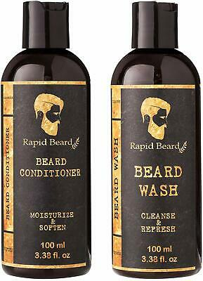 Beard Shampoo and Beard Conditioner Wash & Growth kit for Men Care - Softener