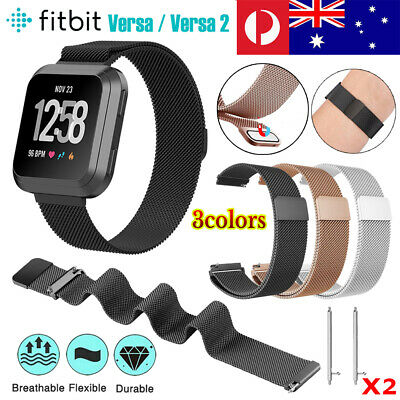 Stainless Steel Band For Fitbit Versa 2 /Lite Milanese Loop Wrist Watch Strap