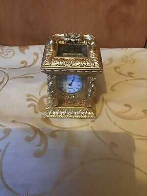 An Ornate Miniature Carriage Clock By Trigona For Repair
