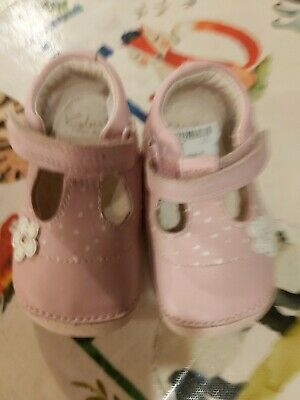 Two pairs of infant girls shoes Clarks and next size 3 Excellent condition