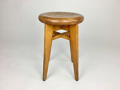 MID CENTURY FRENCH STOOL. PERRIAND, PROUVE, CORBUSIER JEANNERET ERA 30s 40s 50s