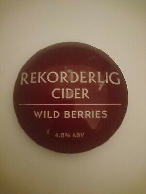 pub,font,tbar,mancave #R227 REKORDERLIG STRAWBERRY AND LIME ROUND BAR BADGE