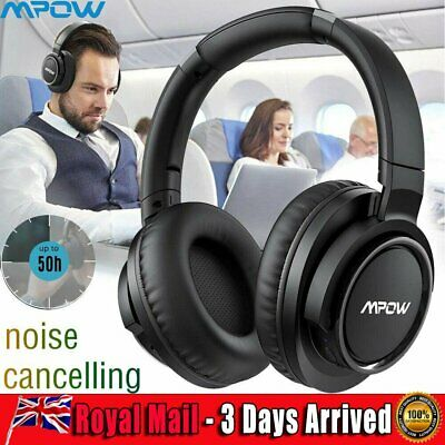 MPOW H18 Active Cancelling Bluetooth Headphones Noise 50 2 Hours Playtime Model