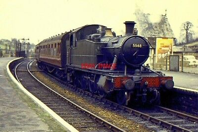 Photo  1962 Gwr Loco No 5568 Trainat Launceston Train From Plymouth. The Former