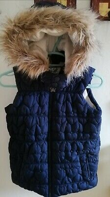 Girls Blue Gilet By Sweet Millie Age 10 Years