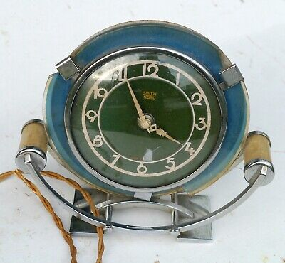 SMITHS Vintage ART DECO Electric SECTRIC Clock Rare & Unusual PARTS or PROJECT