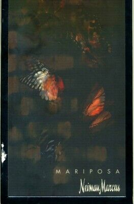 Neiman Marcus Mariposa Menu Lenticular Butterfly Cover 1990's