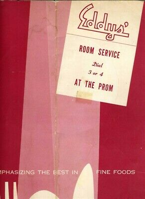 Eddys' At The Prom Room Service Menu