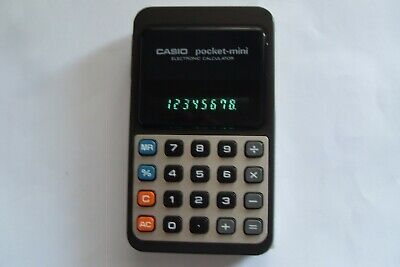 CASIO pocket-mini P-811 Vintage Electronic Calculator Taschenrechner Japan