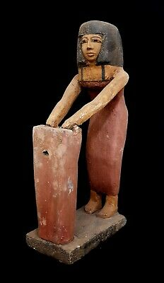 Shabti Sculpture Egyptian Antique Ushabti 420 Bc Statue Rare Wooden Figurine