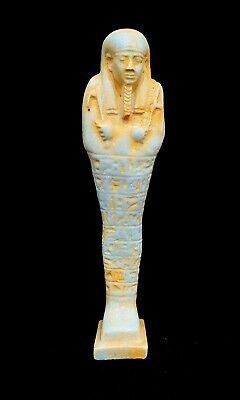 Shabti Egyptian Ushabti Hieroglyphics Bc Ancient Statue Faience Stone Antique