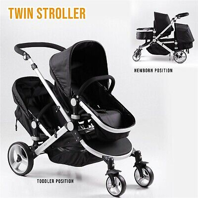 DB-10 Pushchair Buggy Baby Travel Pram Stroller Twin/Double Transportation