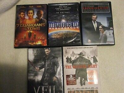 5 DVD Lot The Veil, The Hateful Eight, Independence Day Resurgence & 2 More