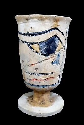 Vase Eye Of Horus Vessel Egyptian Ancient Egypt Stone Wedjet Faience Bc Antique