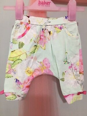 Baby Girls Designer Ted Baker Floral Peony Print Hareem Trousers 0-3m🎀