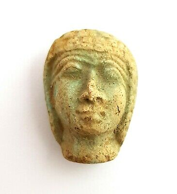 Amulet Egyptian Statue Figurine Goddess Egypt God Ancient hunting scene priest