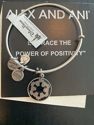 Disney Parks Alex and Ani Imperial Crest Bangle - Star Wars - Silver NEW