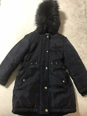 Girls Navy Blue Zoo Parka aged 8/9