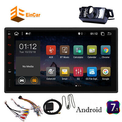 Android 7.1 2DIN Car MP5 Player Bluetooth Touch Screen Stereo Radio GPS+Camera